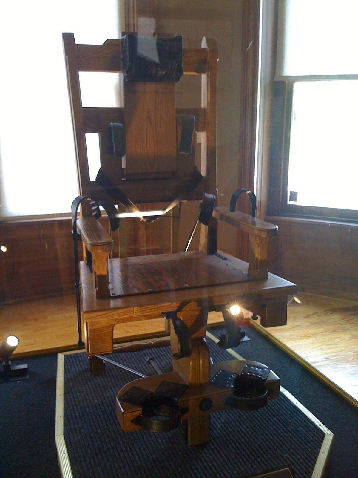 Replica of the electric chair